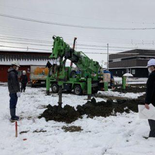 地盤改良工事~基礎着工